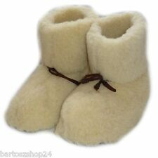 COZY FOOT, Women`s, Ladies Mens Pure Sheep Wool, Slipper Boots, Creame, Grey