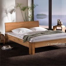 Bedstead With Head Part Solid Wood Oak Double Bed Futon Nature Oiled Cheap
