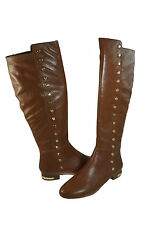 Michael Kors Womens Ailee Flat Heel Boot Studded Knee High Tall Plain Toe Boots