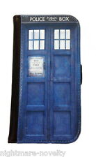 DOCTOR WHO TARDIS SAMSUNG GALAXY & iPHONE CELL PHONE FLIP CASE LEATHER WALLET