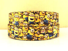 """1 METRE MINION DESPICABLE ME 2 PRINTED 7/8"""" GROSGRAIN RIBBON, PARTY, GIFT, CRAFT"""