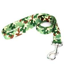 Camo Green Nylon Dog Lead Patterned Webbing Strong Leash Strap Military Army Com