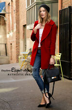 Authentic!!! Size XS, M - ZARA RED WOOL COAT JACKET BLAZER TOP WITH LARGE LAPEL