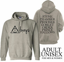 Harry Potter Deathly Hallows Always 2 Sided Adult Unisex Hoodie
