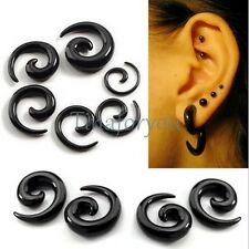 Acrylic Snail Spiral Horn Taper Ear Plug Flesh Tunnel Stretcher Expander Earring