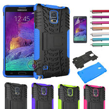 Hybrid Rugged Armor KickStand Hard Case Cover For samsung galaxy Note 4+Flim+Pen