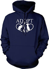 Adopt Rescue Pets Shelter Animals Dog Cat Lovers Love Puppies Mens Sweatshirt
