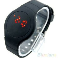 MODERN STYLISH ULTRA-THIN ROUND DIAL SPORT TOUCH DIGITAL SILICONE WRISTWATCH