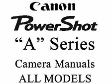 Canon Powershot User Guide Instruction Manual (A MODELS)2