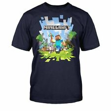 OFFICIAL LICENSED  Minecraft Adventure With Logo Youth T Shirt