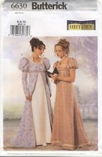 BUTTERICK 6630 English Regency French Empire Jane Austin Costume Sewing Pattern