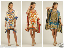 kushi plus size kaftan tunic holiday dress beach cover up 14,16,18,20,22