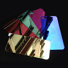 Tempered Glass Screen Protector Front+Back Film for iPhone 5 5S Mirror Colored