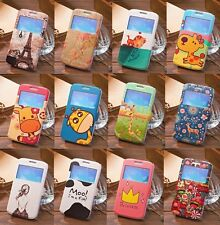 Window View Flip Wallet Leather Case Cover Stand For Samsung Galaxy Win GT-i8552