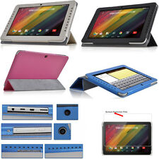 """PU Leather Folio Case Cover For 10.1"""" HP 10 Plus 2201ra 2201ca Tablet + Film"""
