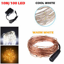 10M 100 Leds Starry String Copper Wire Light For XMAS Wedding Party Decor Lampes