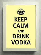 """Striking Typographical Print / sign / gift """"Keep Calm & Drink Vodka.."""" Free Post"""