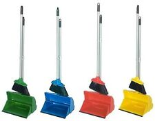 Industrial Long Handled Dustpan and Brush Colour Coded Lobby Hygienic Set