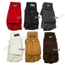 Thinsulate Unisex Thermal Insulation Fingerless Gloves Convertible Mitten Cover