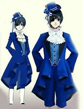 Black Butler Ciel Phantomhive Cosplay Costume Full Set Birthday Dress Customized
