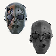 Full Face Mask Skull Skeleton Hunting Costume MOLLE Tactical Outdoor Halloween