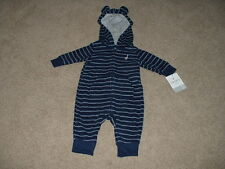 NEW Baby Boys Carters Fleece Stripe Outfit Size 3 9 12 18 24 months Clothes NWT