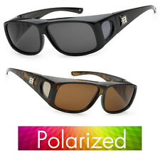 100% UV Polarized wear cover over Rx Glass Sunglasses fit driving Size Medium