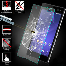 Premium Tempered Glass Screen Protector Film Case fr Sony Xperia Z3 / Z3 Compact