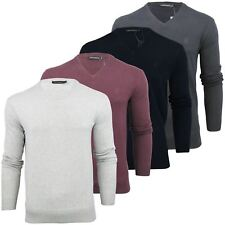 Mens Jumper French Connection FCUK Auderly Italic V Neck Cotton