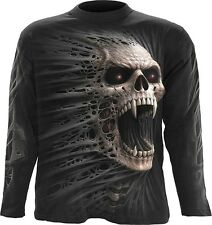 Spiral Direct CAST OUT Long Sleeve T-Shirt Vampire Skull Horror Goth Biker Top