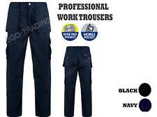 Mens Combat Cargo Work Trousers. Heavy Duty Pro Tough Work Wear . BLACK - NAVY