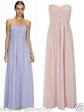 BHS Chiffon Bridesmaid Dress PINK LILAC Full Length Gown Maxi Evening Size 6-22