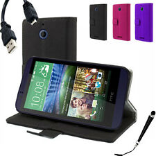 Wallet Money Card Leather Case Cover For HTC Desire 510 + Free SP&Stylus&Cable