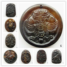 Carved Chinese Old Jade Pendant Bead S0080