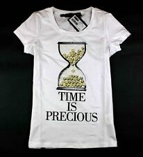 NWT Love Women's 18285 Stones Hourglass Moschino Timer Letters T-shirt 3 Colors