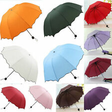 Folding Windproof Anti UV Clear/Rain Korean Lacework Princess Parasol Umbrella