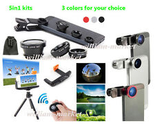 5in1 for iPhone 6 Plus 6 5 5s 5c 4 4s Bluetooth Camera Control+Tripod+3in1 Lens
