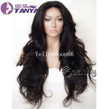 """160% Density Indian Remy Human Hair 22""""-24"""" Long Body Wave Lace Full/Front Wig"""