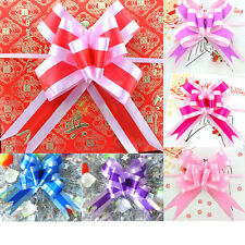 4.5*70CM Flower Bow Wrap Pull Ribbon Plastic Decoration Gift Wrapping Supplies