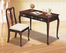 Home Office Writing Desk and Chair Set Cherry Finish  2515