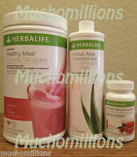HERBALIFE Formula 1 Shake + Herbal Tea Concentrate 1.8oz + Aloe *BREAKFAST PACK*