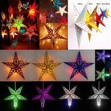 6PCS 6Color Pentagram Lampshade Star Paper Lantern Hanging Christmas Party Decor