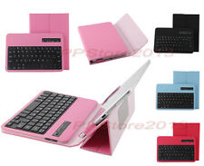 """Bluetooth Keyboard Portfolio Leather Case For 9-10.1"""" Android iOS Windows Tablet"""