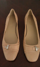 EASY SPIRIT Women Shoes Beige Leather Flats SIZES 6.5W AND 11M