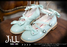Lolita Baby butterflyl peri scalloped pearl beads Mary-jane Heel shoes 5131 GR