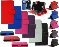 NEW SLIM LEATHER FLIP WALLET PHONE CASE COVER POUCH FOR VODAFONE SMART 4 TURBO