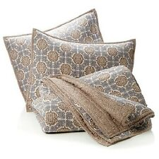 India Hicks Exotic Coconut 100% Cotton 3-Piece Coverlet Quilt Set -  SEE SIZES