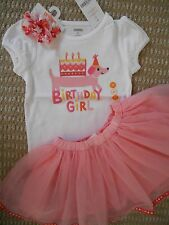 Gymboree NWT Baby Girl TUTU Birthday Outfit with Hair Curlie Barrettes