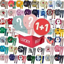 """Lucky Box""2 Sets of Vaenait Baby Girl Boy Clothes Sleepwear Pajama Top Bottom"