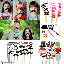 DIY Photo Booth Props Mask Sticker Mustache For Wedding Birthday Christmas Party